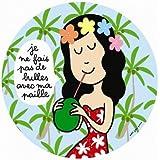 Petit Jour Paris Assiette à Dessert Motif Je ne Fais pas de Bulles Multicolore