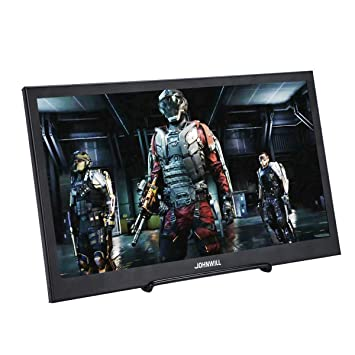 JOHNWILL Consola IPS portátil de 15.6 Pulgadas Monitor Full HD Pantalla 1920 x 1080 Portátil Ultra Thin Black Metal Shell