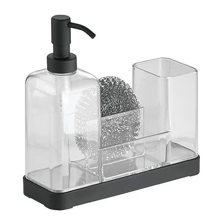 Good InterDesign Forma Kitchen Soap Dispenser Pump, Sponge, Scrubby And Dish  Brush Caddy Organizer