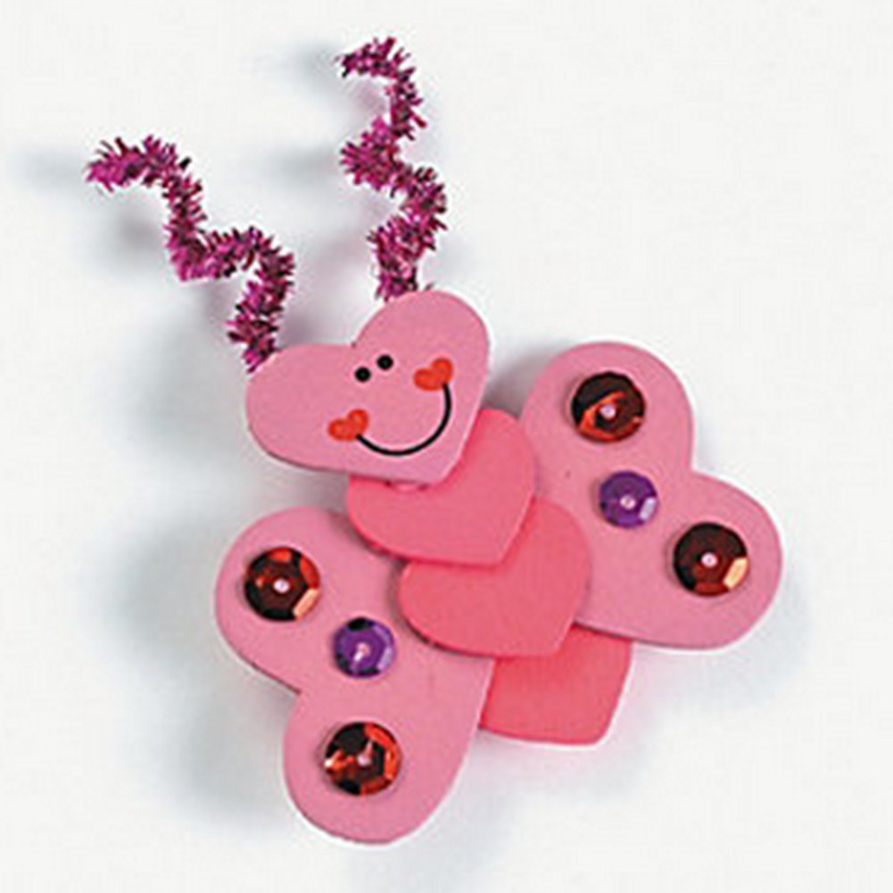 Valentines day craft bug hearts for kids