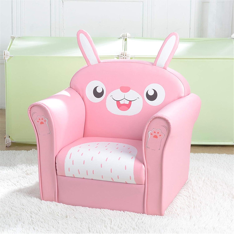 Kids Sofa, Environmental Friendly PVC Toddler Children's Armchair Sofa Living Room Bedroom Furniture Lightweight Padded Single Sofa Chair for Girls & Boys (Rabbit)
