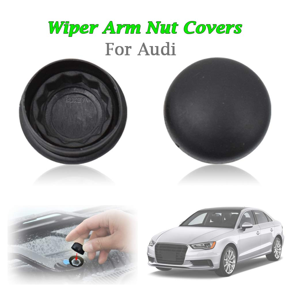 2Pcs Front Windshield Wiper Arm Nut Cap Cover For Audi A1 A2 A3 A4 A5 A6 A7 A8 Q3 Q5 Q7 R8 RS3 RS5 OE# 1J0955205A