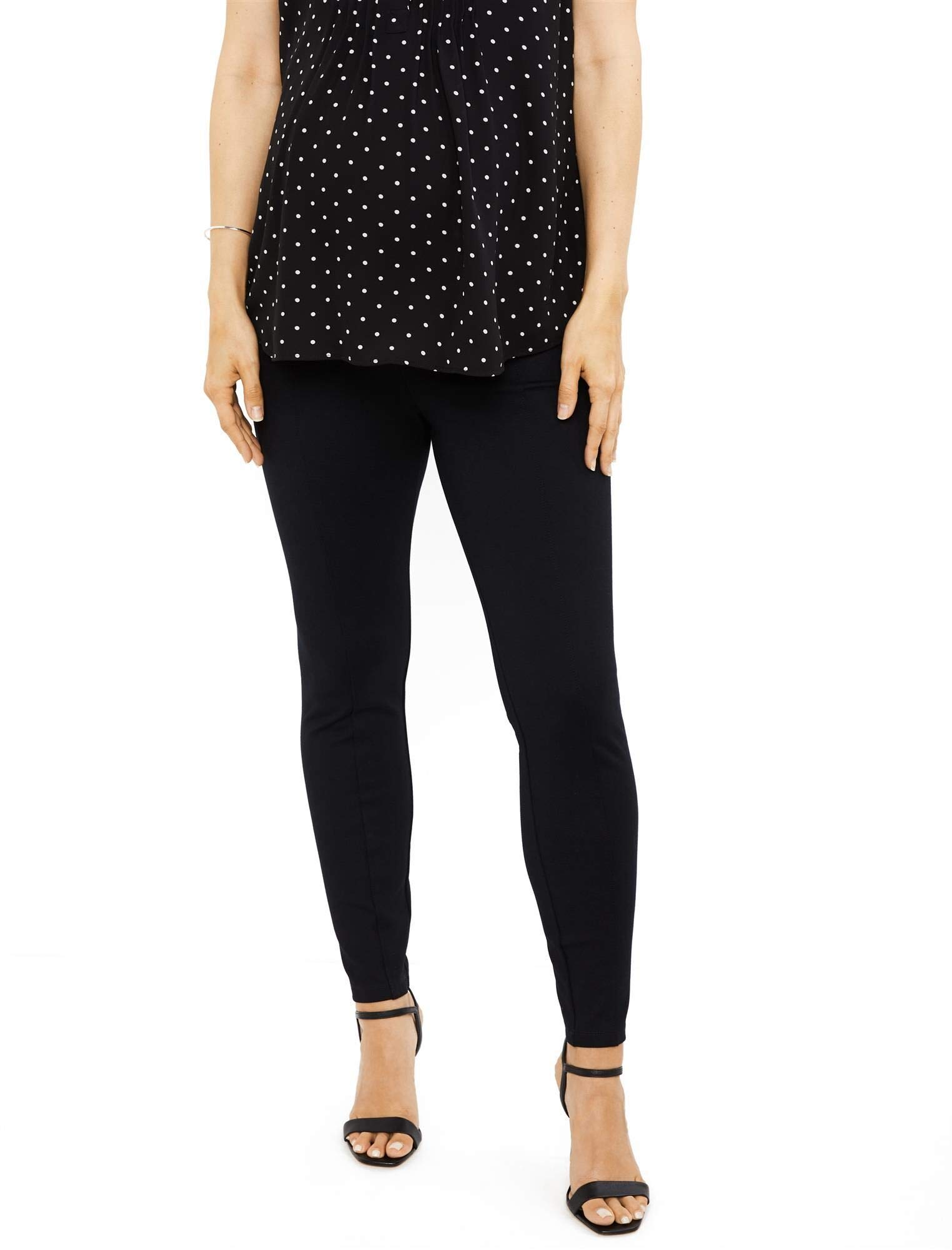 A Pea in the Pod Under Belly Ponte Maternity Pants Black by A Pea in the Pod