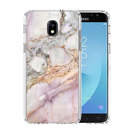 finest selection 9fe5a 7fa7f Amazon.com: YaoLang Samsung Galaxy J7 2018 Case, White and Gold ...