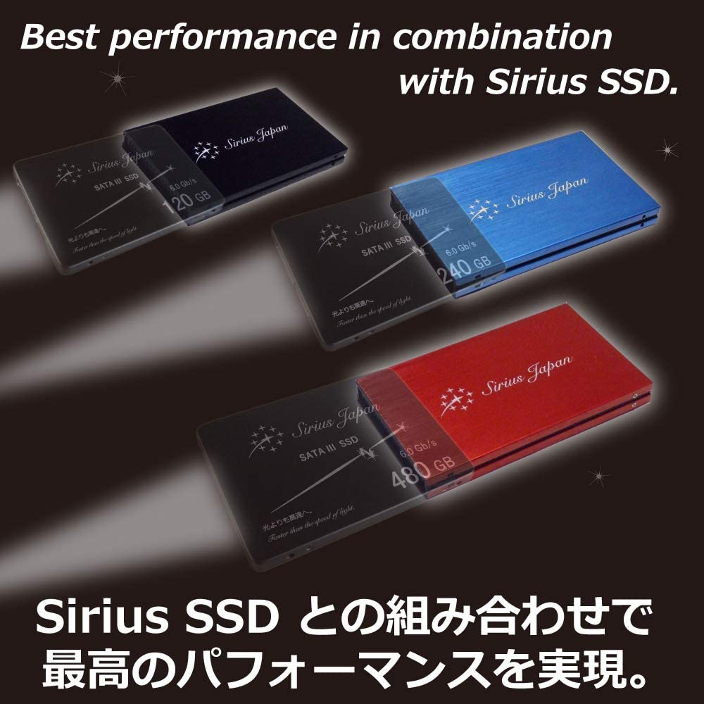 Sirius SSD Case 【Color:Red】 3 Colors 2.5Inch SATA 3 Available for HDD ESD3-Rc External Drive Case