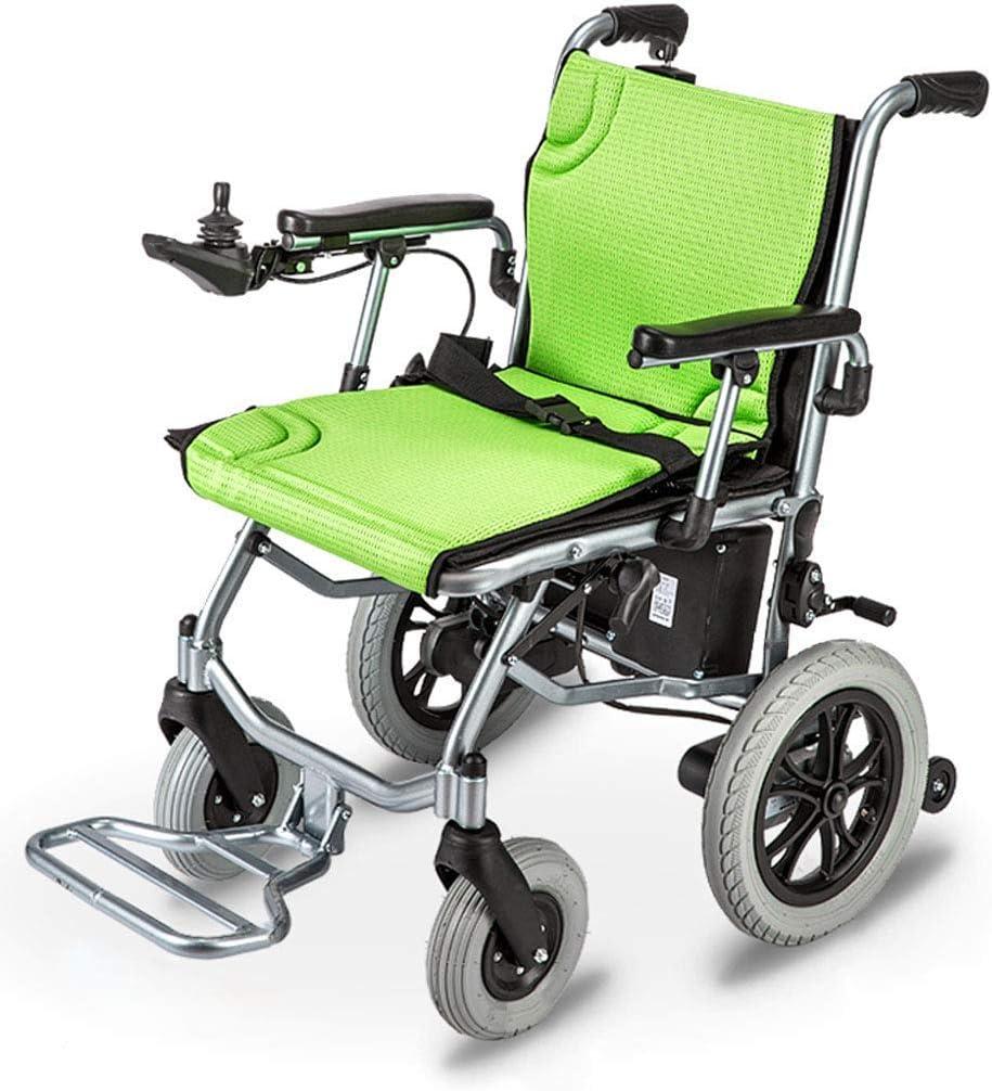 La silla de ruedas eléctrica más ligera y compacta del mundo - Silla de ruedas eléctrica plegable ultra portátil - Pesa solo 35 lb (incluida la batería de litio de 10 A) - Ancho del asiento de 18