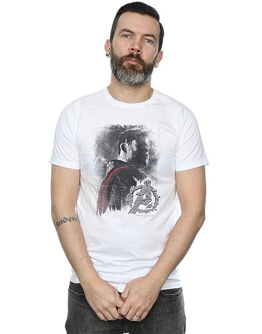 Avengers Camiseta Hombre Endgame Collage Marvel Algod/ón Negro