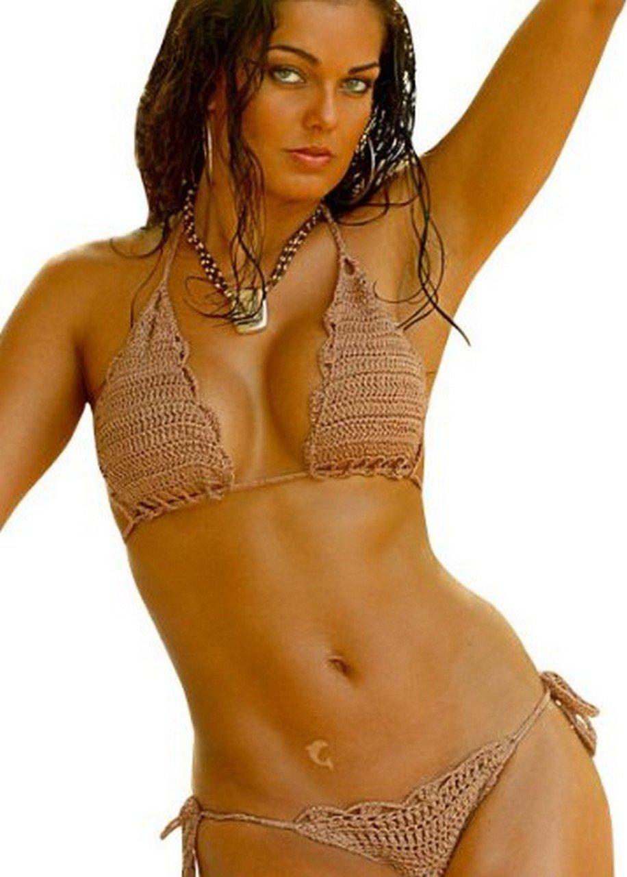 Seychelles Crochet Bikini Swimwear Top and Bottom