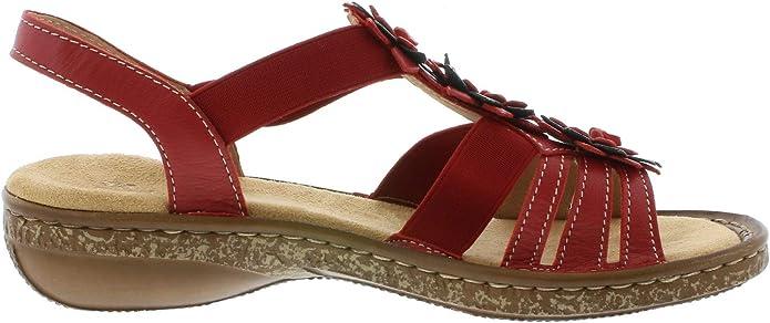 Rieker 62858 Femme Sandale à lanières,Spartiates,Chaussures