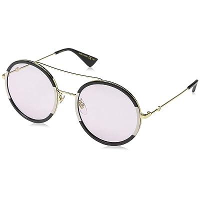Gucci GG0061S 008 Gafas de sol, Dorado (Gold/Green), 56 para Mujer: Ropa y accesorios