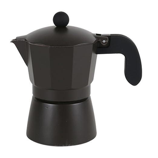 San Ignacio Cafetera 3T Soft Touch Dark Choco Negro, Aluminio ...