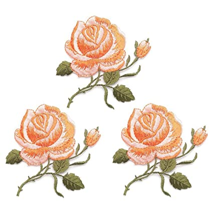 58277a995416 Amazon.com  3 Pack Delicate Embroidered Patches
