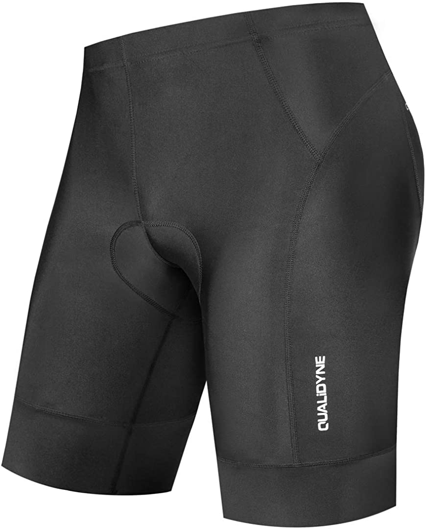 qualidyne Men's Bike Cycling Shorts, Bicycle Biking Riding Shorts, 3D Padded Half Pant -Quick Dry & Comfy: Clothing