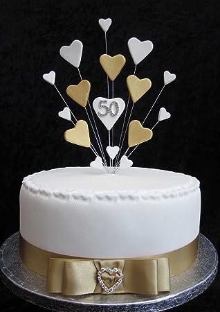 Karen S Cake Toppers Decoration Pour Gateau 50e Anniversaire De