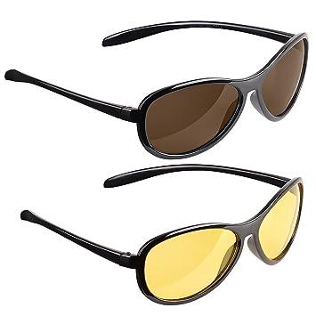 Polarisierte Nachtsichtbrillen Nachtfahrten Sport im Freien Sonnenbrillen Schwarz Sc4kqM