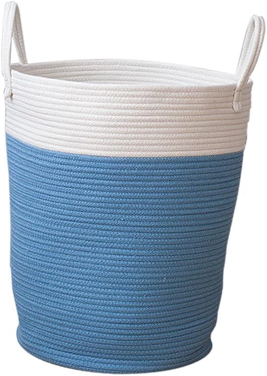 Sharplace Cestos para Lavandería de Algodón Organizador de Cocina/Cuarto de Baño/Dormitorio/Sala de Estar - Azul L: Amazon.es: Jardín