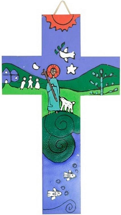 Croix pour les enfants Bon berger fabriqu/é /à la main