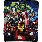 "Marvels The Avengers ""Band of Heroes"" Character Lightweight Fleece Throw Blanket"