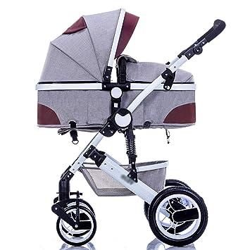 Baby Stroller Coche del Paraguas de Carro de bebé Los niños Pueden Sentarse y Doblar Mini Cochecito portátil (Color : Gray): Amazon.es: Hogar