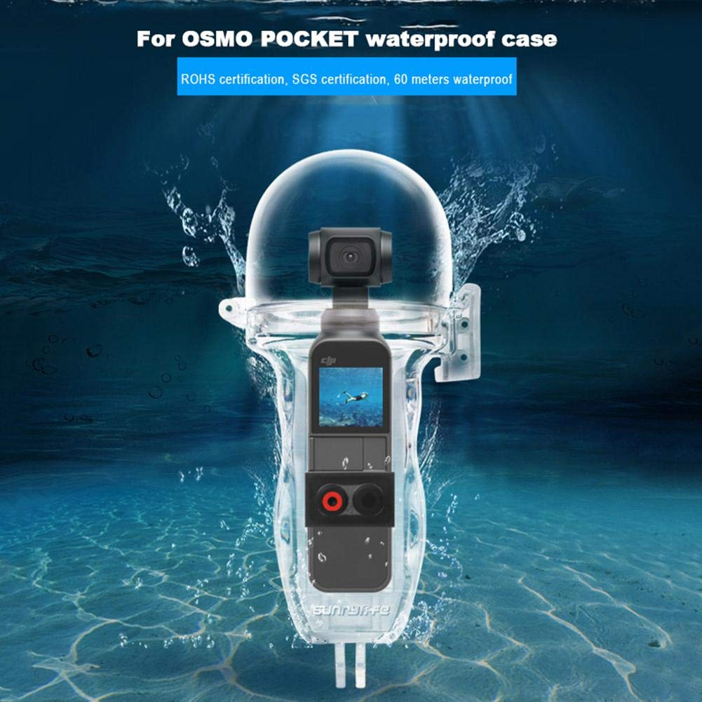 Kamera Tauchen Shell kompatibel f/ür DJI OSMO Pocket Kamera-Zubeh/ör Sport Kamera wasserdichte Schutzh/ülle