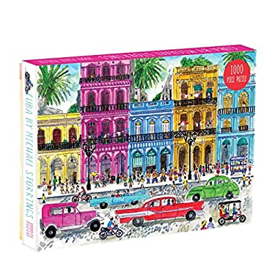 Galison Michael Storrings 1000 Piece Cuba Jigsaw Puzzle for Adults and Families, Illustrated Art Puzzle with Cuban Art Deco Scene: Galison, Storrings, Michael: Toys & Games
