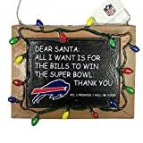 NFL Buffalo Bills Resin Chalkboard Sign Ornament, Blue, One Size