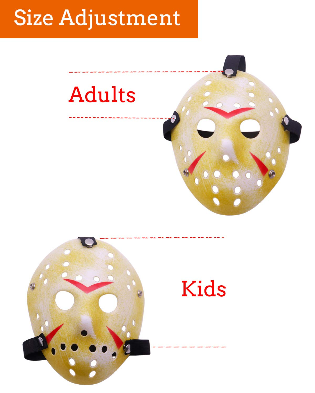 Horror Movie Kller\'s Hockey Mask Scary Halloween Mask (Jason)