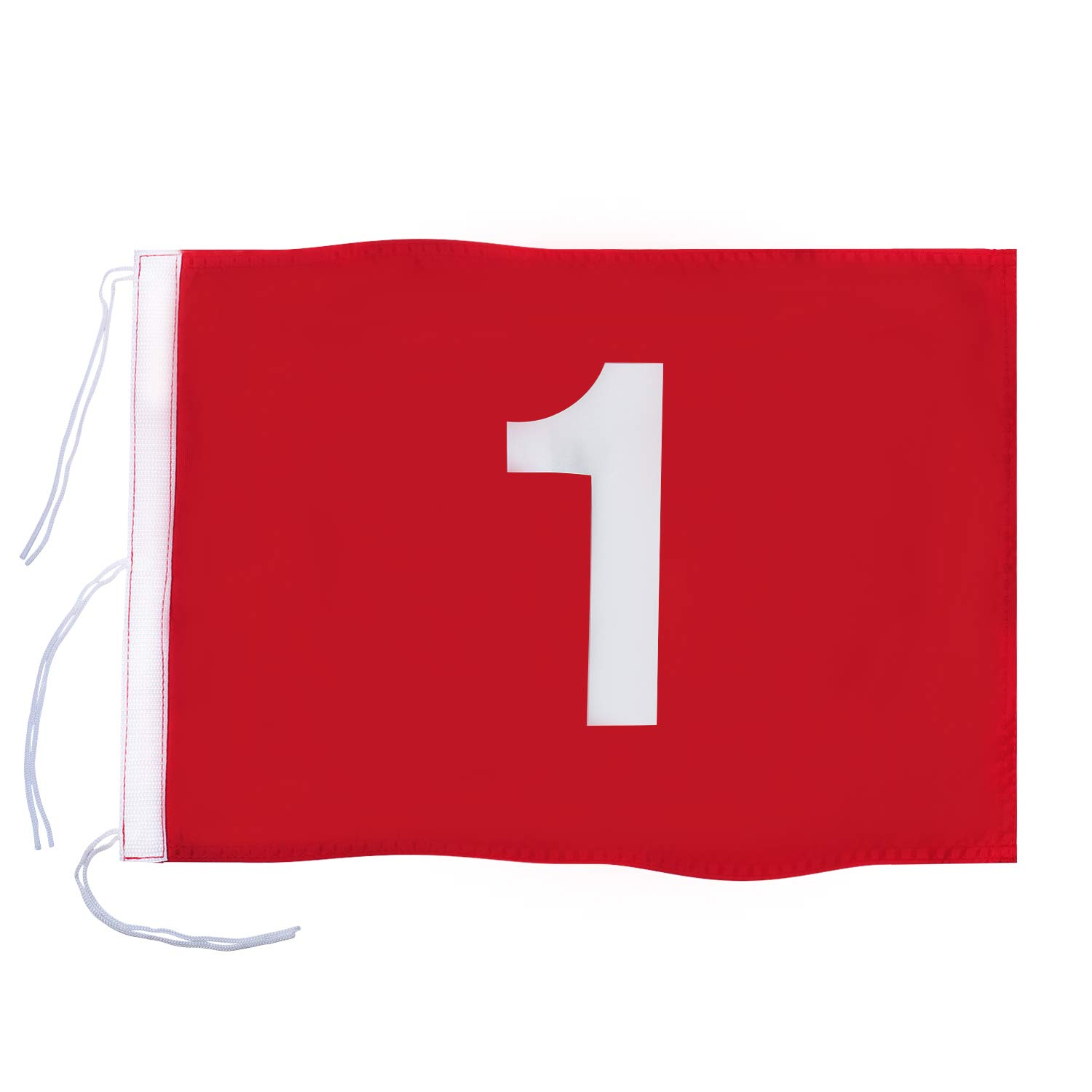 KINGTOP Numbered Golf Flag with Secure Strings, 13'' L x 20'' W, 420D Nylon, Red 1 by KINGTOP