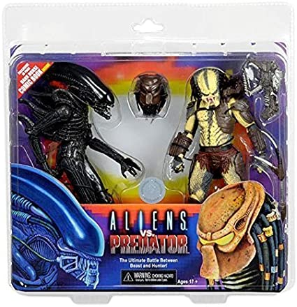 Alien vs. Predator 7 Inch Action Figure 2 Pack with Mini Comic by ...
