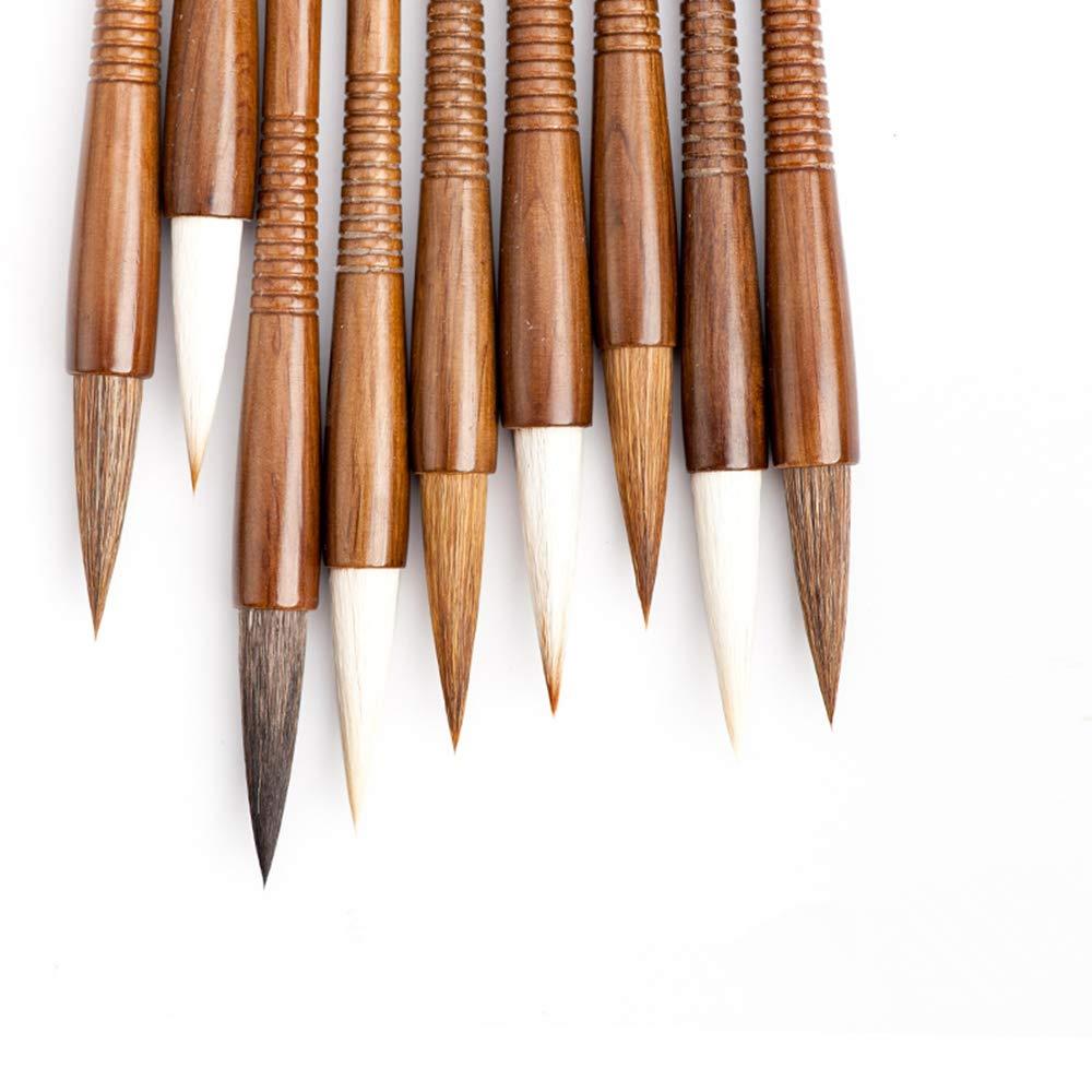 Professional High-Grade Fine Chinese Calligraphy Sumi Writing Brush Set for Beginner Watercolor Drawing Kanji Brush Set (6PCS)