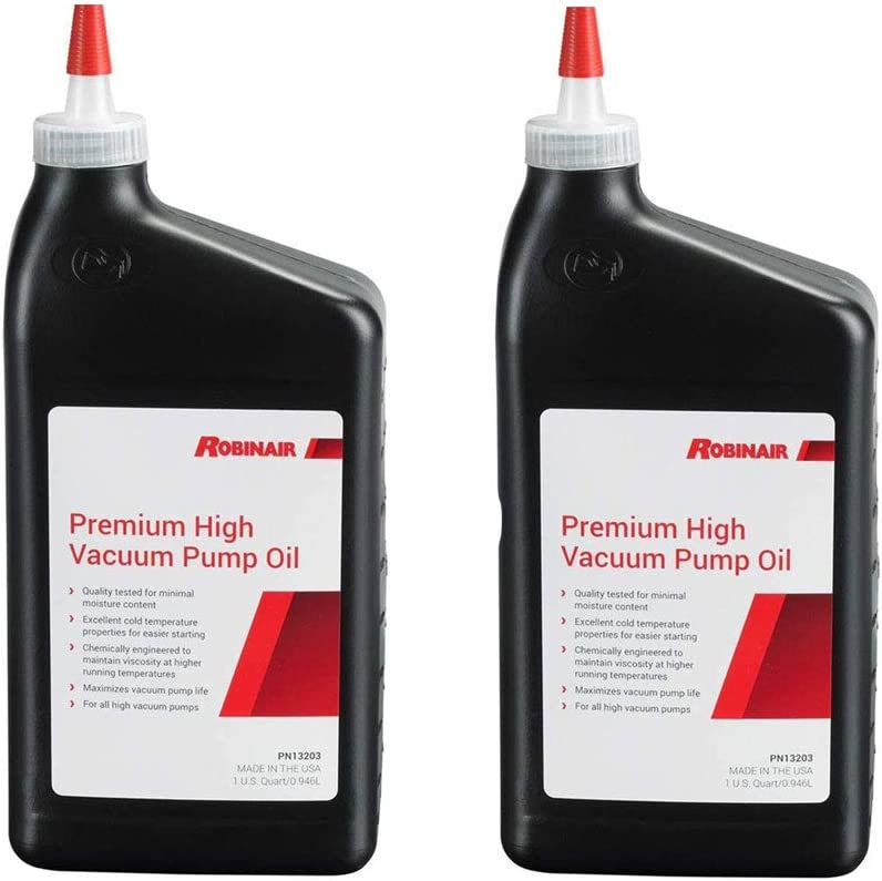 Robinair Premium High Viscosity Low Moisture Vacuum Pump Oil, Quart (2 Pack)