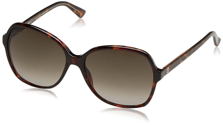 0a66d4dd95f Gucci Ladies Acetate Havana Brown Frame GG 3721 S HNZ HA 58-140   Amazon.co.uk  Clothing