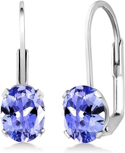 Plata esterlina 925 Natural Azul Tanzanita /& piedras preciosas Topacio Blanco Novia Boda