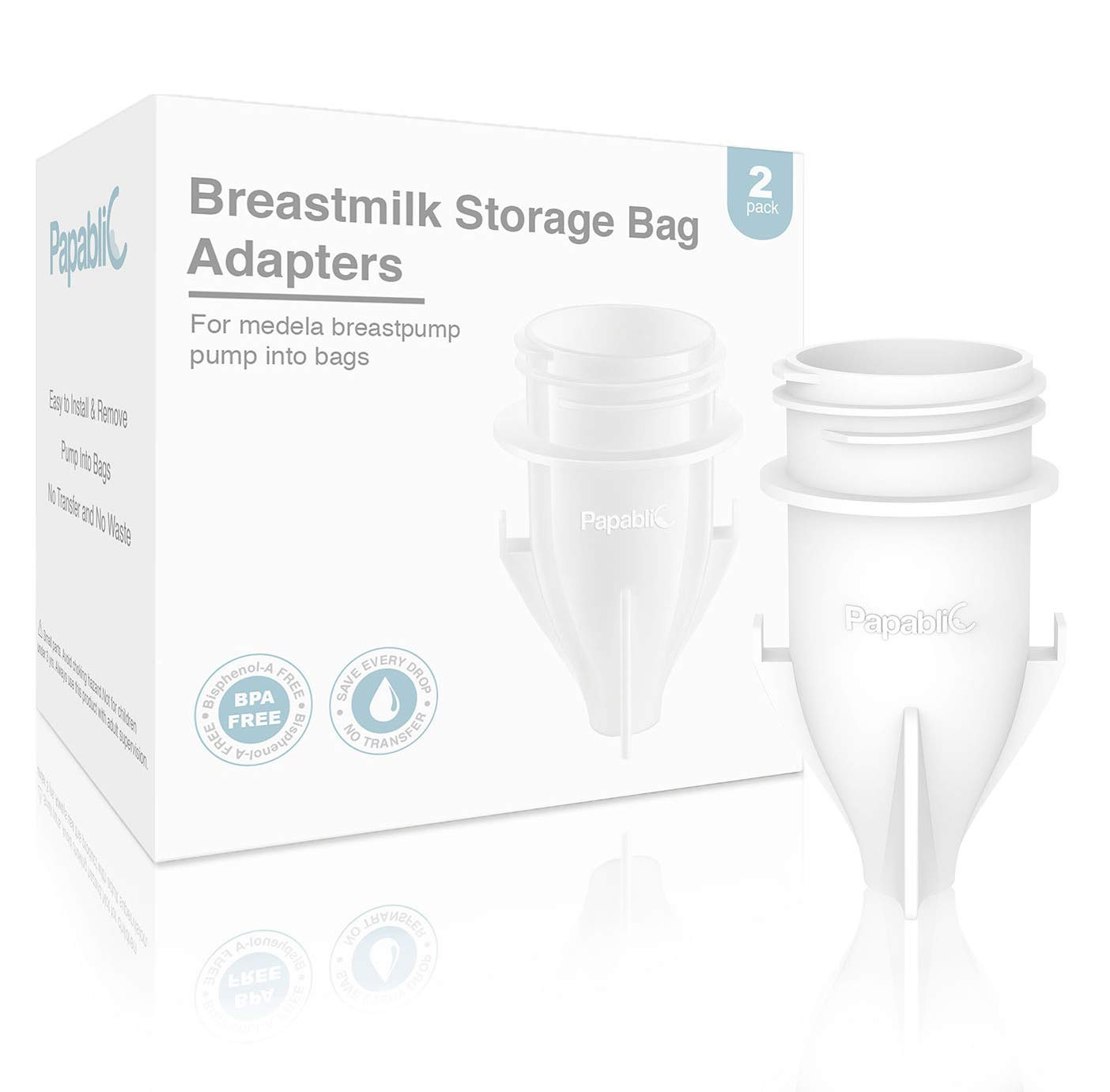 eff8e3c28d248 Amazon.com   Papablic Breastmilk Storage Bag Adapters for Ameda ...
