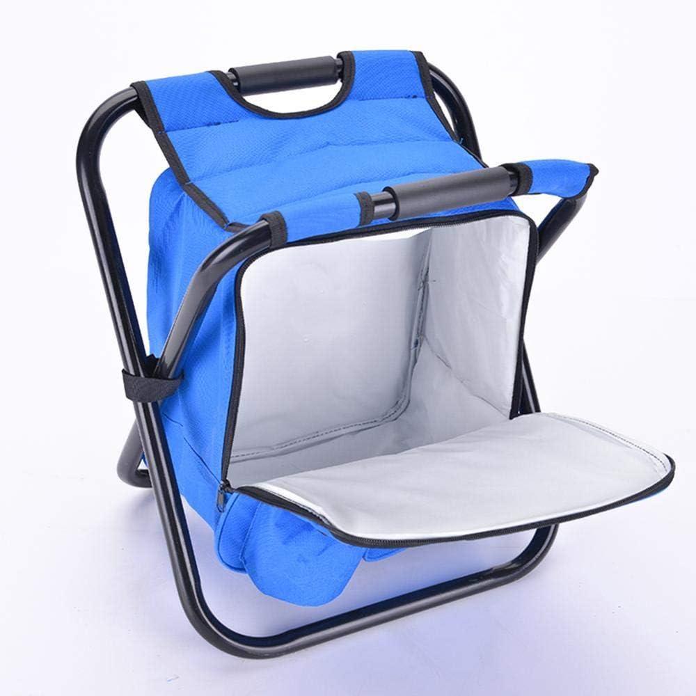Nai-Style Outdoor-Fischen-Stuhl-Falte Camping Hocker Tragbare Rucksack Cooler Insulated Picknick-Beutel f/ür Outdoor Angeln Camping Garten