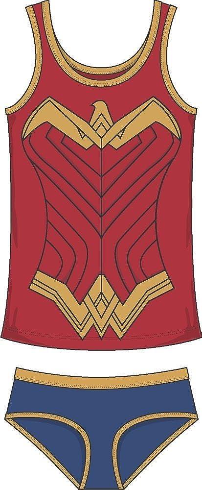 Underoos Wonder Woman DOJ DC Comics Juniors Girls Tank Underwear Set