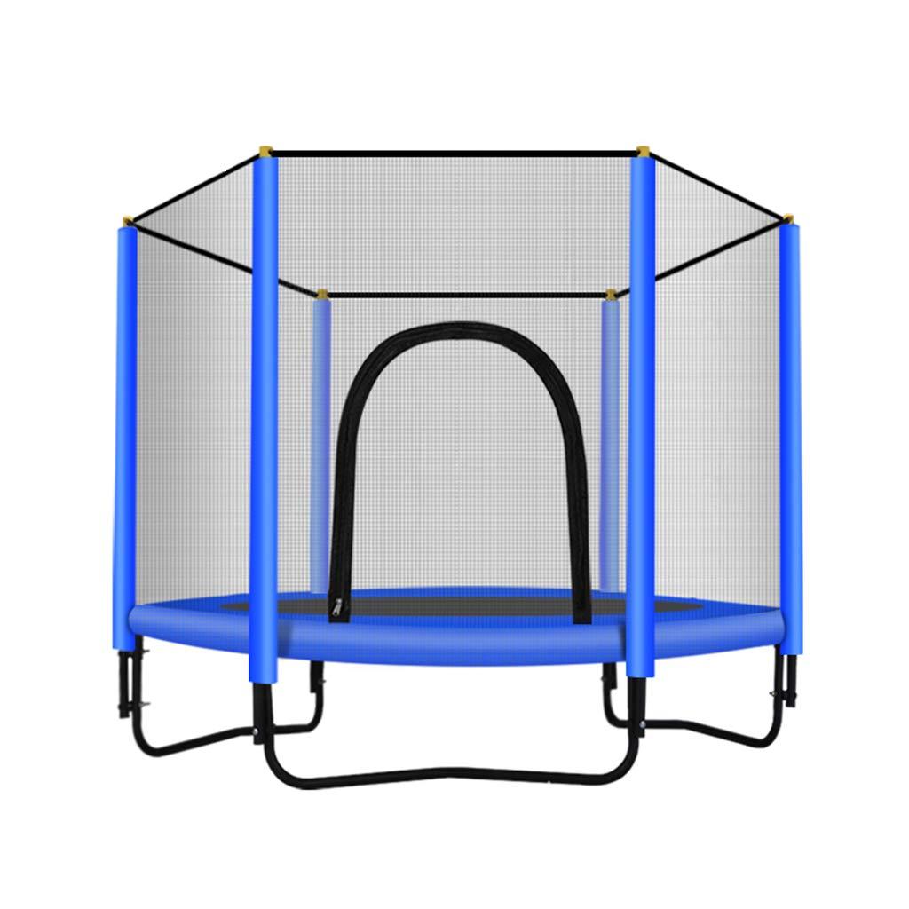 室内用トランポリン トランポリンホーム子供たちのバウンスベッド トランポリン屋内バウンスベッドネット 家族の子供たちのジャンプベッドベストギフト エクササイズグッズ (Color : Green, Size : 150*150*100cm) B07PZS3TCJ Blue 150*150*100cm 150*150*100cm|Blue