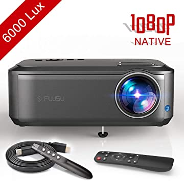 Proyector, FUJSU 6000 Lúmenes Proyector Full HD 1920 x 1080P ...
