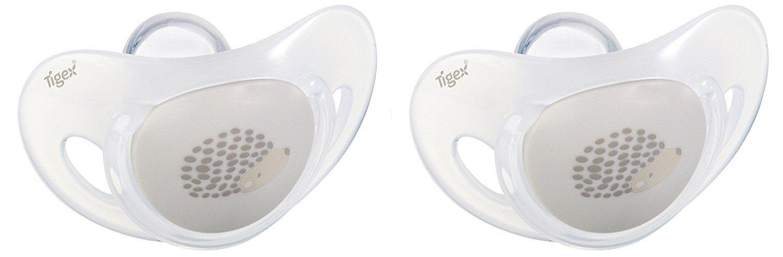 Tigex - Lote de 2 chupetes, silicona, color gris blanco blanco Talla ...