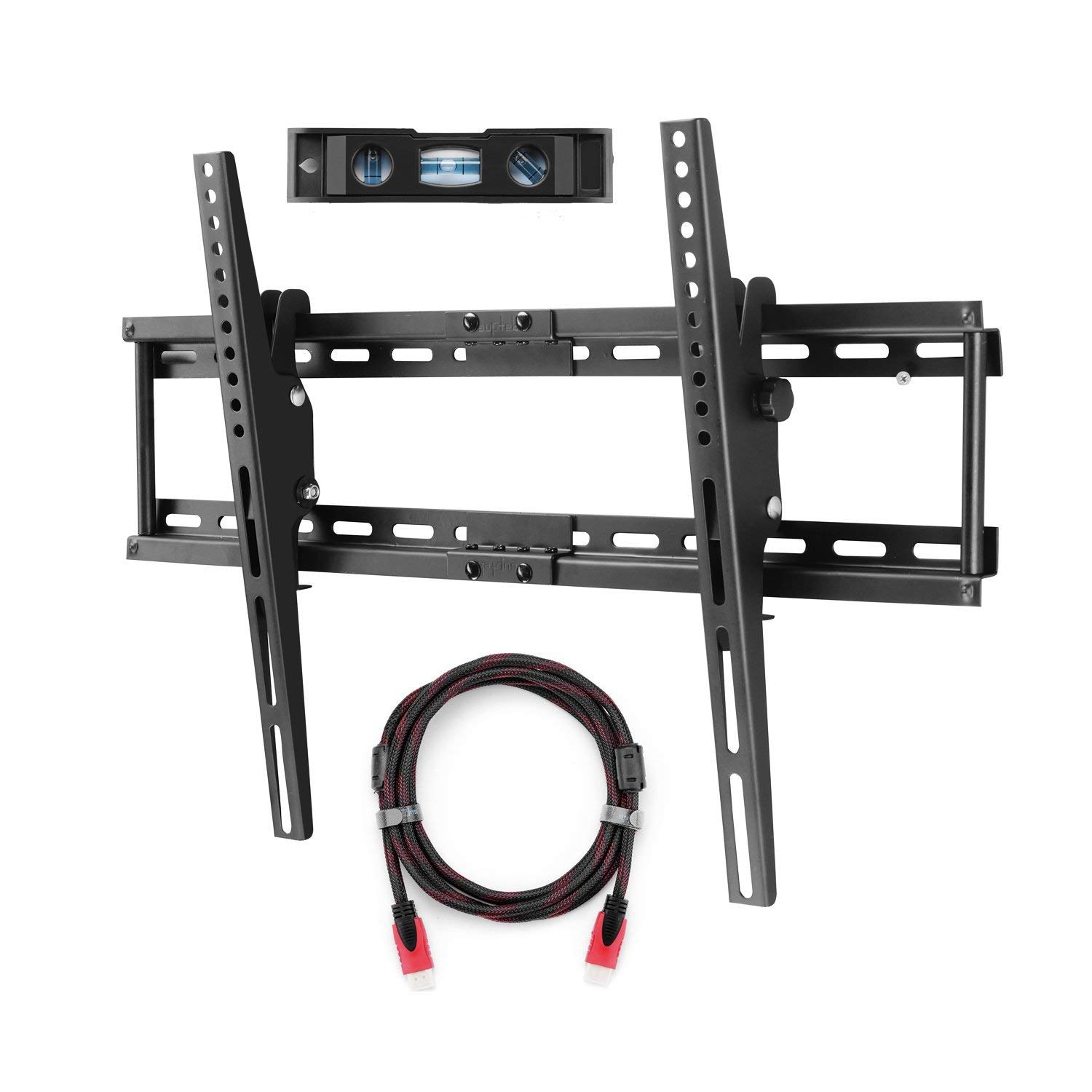 Suptek Tilt TV Wall Mount Bracket for 32-65 inch LED LCD and Plasma TV, Mount with Max 600x400mm VESA and 165lbs Loading Capacity, Fits Studs 24 inch Apart, Low Profile (MT5074)