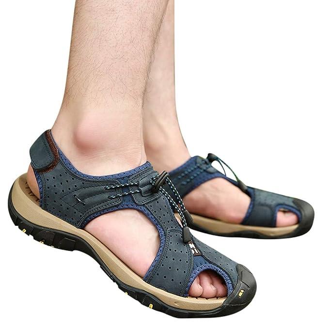 ada4f1253 Sandalias para Hombre Cebbay Senderismo Cuero Al Aire Libre Pescador Playa  Zapatos Impermeables Playa  Amazon.es  Ropa y accesorios