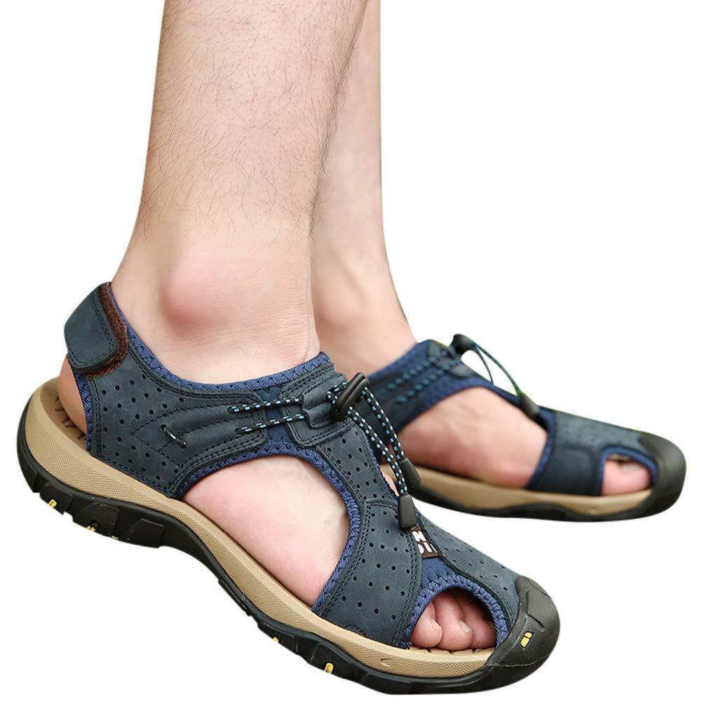 KIKOY Men's Sports Sandals Trail Outdoor Water Shoes Non-Slip Sandals Flats by Kikoy Shoes (Image #2)
