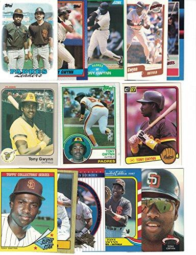 - Tony Gwynn / 1983 Topps, Donruss & Fleer Rookie Cards! PLUS 50 Different Baseball Cards featuring Tony Gwynn!