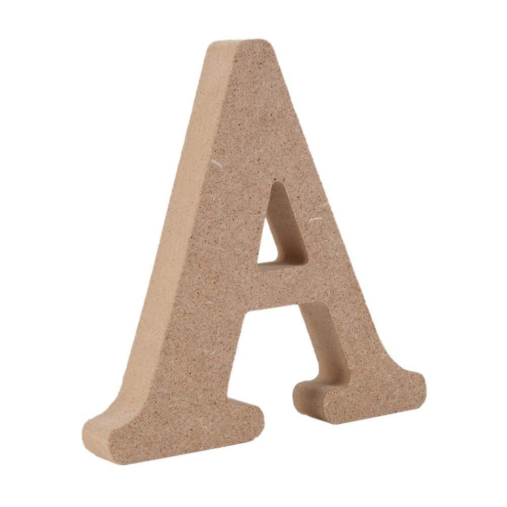 Decorative Wood Letters,Andision Hanging Wall 26 Letters Wooden Alphabet Wall Letter for Baby Name Girls Bedroom Wedding Brithday Party (A)