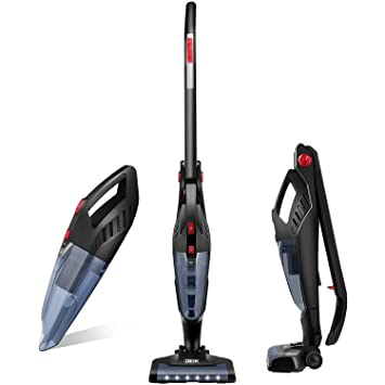 Captivating Amazon.com   Deik Vacuum Cleaner, 2 In 1 Cordless Vacuum Cleaner,  High Power Long Lasting 22.2V 2200mAh Li Ion Battery Powered Rechargeable  Bagless Stick ...