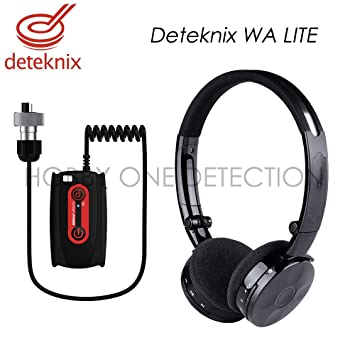 Deteknix – Auricular con micrófono inalámbrico Deteknix Wa Lite (Jack detector de metales Garrett AT