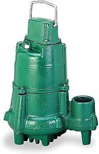 Model N98 Flow-Mate Non-Automatic Cast Iron Effluent Sump Pump - 115 V, 1/2 HP