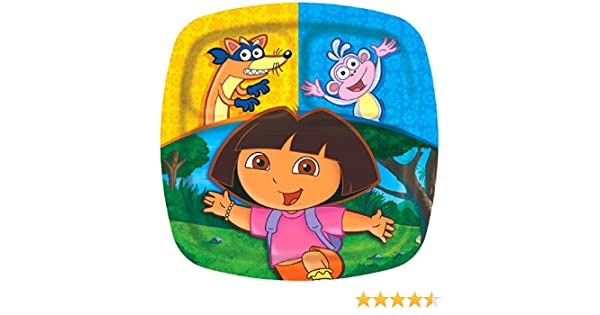 Party Accessory amscan Divided Plates Dora and Friends Collection