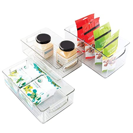 mDesign Juego de 3 organizadores de Cocina de plástico - Caja ...