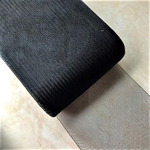 7'' Width Black Polyester Horsehair Braid, Selling per Roll/22 Yards by Sewing888